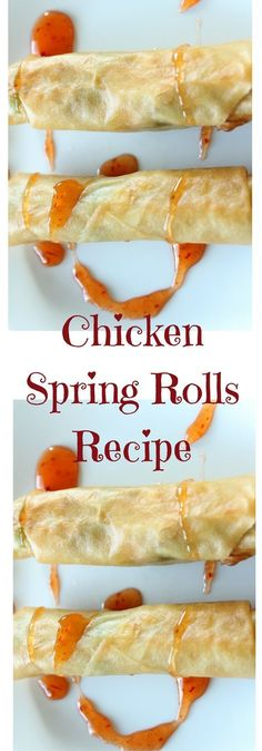 Craving spring rolls? This chicken spring rolls recipe is crunchy and flavorful in every bite. Click for the recipe or Pin to save for later.