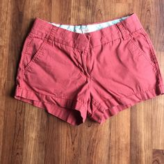 "J. Crew Chino Shorts Classic J. Crew chino shorts! Size 0. Inseam is 2.5"". Great used condition! J. Crew Shorts"