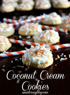 Coconut Cream Cookies www.iwantcrazyblog.com