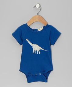 Take a look at this violet + moss Blue Dinosaur Organic Bodysuit - Infant on zulily today!
