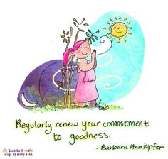 Buddha Doodle - 'Commitment to Goodness' image by @Molly Simon Baker