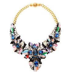 Shourouk Apolonia Sequins Splash Necklace (18,475 MXN) ❤ liked on Polyvore featuring jewelry, necklaces, accessories, jewels, collares, multi, sequin collar necklace, collar jewelry, jewel necklace and sequin necklace