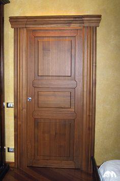 Porta in legno di toulipier a tre pannelli pantografati | Porte ...