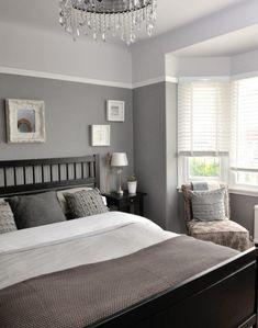A Structured Grey Bedroom Idea For Stunning Straightforward
