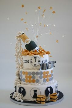 happy new year we made this cake for the dutch cake magazine mjamtaart
