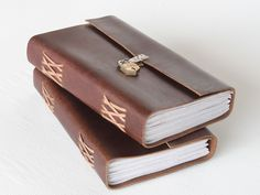 Large Leather Handmade Journal With Padlock from Scaramanga