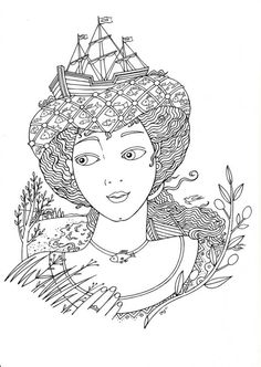 Lydie coloring page for adults