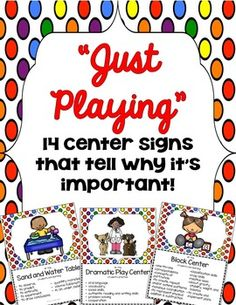 """Let everyone that enters your room see that the students are learning as they """"play"""" in you centers."""