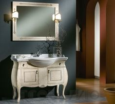#bathroom #furniture #interior #design #interiordesign #designideas тумба под умывальник Modenese Gastone Contemporary, 96059