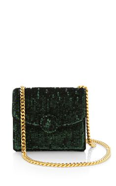 Mini Trouble Bag In Malachite Embroidered Paillettes by Marc Jacobs for Preorder on Moda Operandi