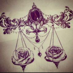 Sternum Tattoo, Medusa Tattoo, Chest Tattoo, Forearm Tattoos, Body Art Tattoos, Small Tattoos, Sleeve Tattoos, Flower Tattoos, Libra Scale Tattoo