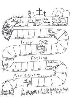 On the Road to Easter: Lent Word Find Printable with words
