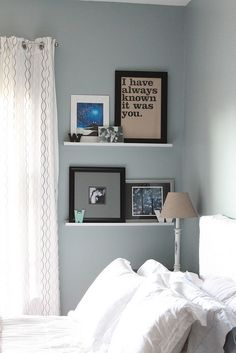 Decor Adventures: Wall Shelves in Bedroom