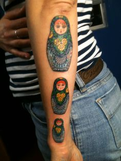 matryoshka tattoo (another view) by paul taylor, san francisco