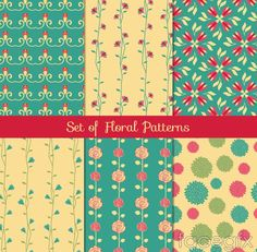 6 paragraph patterned floral seamless background vector