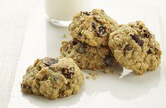 Chocolate Cherry Oatmeal Cookies. Diabetic Gourmet Magazine cookie recipe. DiabeticGourmet.com