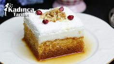 Şerbeti Karamelli Pasta Tarifi Sorbet, Turkish Recipes, Food Cakes, Vanilla Cake, Cake Recipes, Caramel, Tart, Cheesecake, Menu