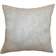 Marcail Floral Cotton Throw Pillow