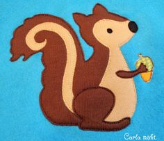 Eichhörnchen kostenlose Applikationsvorlage applique pattern Freebie free squirrel von Carla näht.