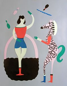 Happy ? Mitou ! Illustration Blog !!!!: The Juggler and the Zebra !!!