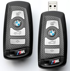 It seems BMW understand to their user need for a versatile key chains. For that reason, BMW has presented a USB flash drive which is also serves as a key chain, the BMW M USB Key.    BMW M USB Key comes in a pretty fancy impression with M's signature carbon fiber design and of course the BMW logo. And if you want to use it as a USB flash drive, simply press the trunk release button then you will see a USB connector come out.