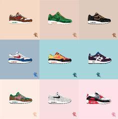 caroll lynn illustrations sneakers