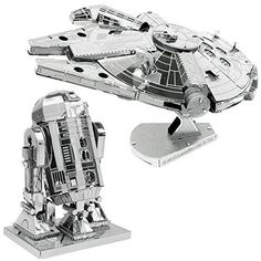 Metal Earth 3D Model Kits Star Wars Set of 2 Millennium Falcon  R2D2 *** Click image to review more details.Note:It is affiliate link to Amazon.