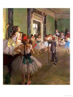 The Dancing Class circa 1873-76:   Edgar Degas  art.com
