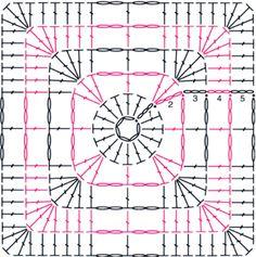 Patrones cuadrados crochet para imprimir - Imagui