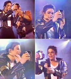 Michael Jackson is filming his fans at the Dangerous World Tour in Buenos Aires (Argentina) 1993