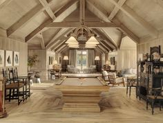 If you've ever had horses, you'll love the design of this barn-house incorporating the stables (the tack room is amazing). The stables/house has been done in such a stylish way that it looks perfec Barn With Living Quarters, Farmhouse Family Rooms, Farmhouse Style, House Seasons, Pinterest Home, Sweet Home, Tallit, Decoration Design, Beautiful Interiors
