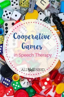 """How to Turn Board Games into a Cooperative Game. Games are great motivators in speech therapy. And I love getting lots of data from open-ended turn-taking games. The downside? Games are games. And they can bring out competitiveness, cries of """"No fair! Speech Language Pathology, Speech Therapy Activities, Language Activities, Speech And Language, Group Activities, Cooperative Games, Teacher Blogs, Teacher Education, Board Games"""