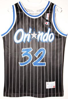 ca55393d1 Champion NBA Basketball Orlando Magic  32 Shaquille O Neal Penny Hardaway