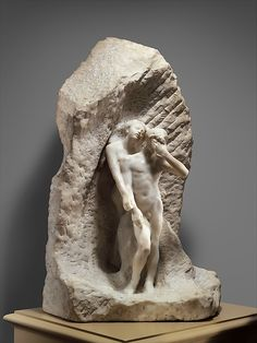 Auguste Rodin: Eurydice and Orpheus (1893, marble)