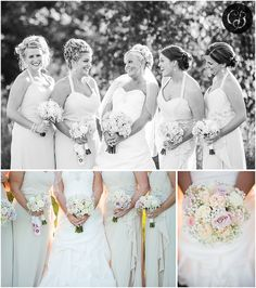 Captains Club at Woodfield in Grand Blanc, Michigan- Weddings by Chelsea Brown Photography- Blush Bridesmaids dresses