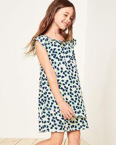 54f28da5563 Linen   Cotton Tulip-Hem Dress - Girls