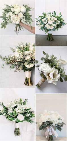 35 simple white and green wedding bouquets- 35 einfache weiße und grüne Hochzeitssträuße 35 simple white and green wedding bouquets, # green # wedding bouquets - Bridal Flowers, Flower Bouquet Wedding, Floral Wedding, Fall Wedding, Wedding Colors, Rustic Wedding, Wedding White, Wedding Greenery, Flower Bouquets