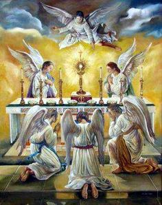 """If angels could be jealous of men,"" said Maximilian Kolbe, ""they would be so for one reason: Holy Communion."""