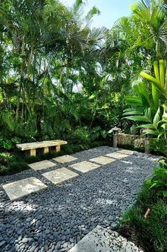 Like this tropical look for a small space/courtyard