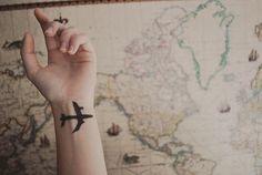 airplane tattoo.