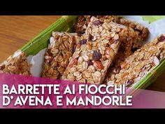 Barrette ai Fiocchi d'avena e Mandorle - YouTube Final Cut Pro, Energy Bars, Gelato, Banana Bread, Grains, The Creator, Protein, Make It Yourself, Vegetables
