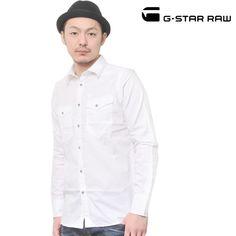 G-STAR RAW (ジースターロー) シャツ 長袖 ホワイト No.83913A.4823.110【送料無料】 sh-gs-110