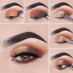 Stunning Eye Make-Up Tutorials! - - - - Stunning Eye Make-Up Tutorials! – – maquillage beauté Atemberaubende Augen Make-up Tutorials! Summer Eye Makeup, Gold Eye Makeup, Cut Crease Makeup, Makeup Eye Looks, Eye Makeup Steps, Eye Makeup Art, Smokey Eye Makeup, Eyeshadow Makeup, Beauty Makeup