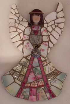 Angel by Anja Hertle  ~ Maplestone Gallery ~ Contemporary Mosaic Art