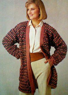 Vintage Crocheted Jacket Pattern by MAMASPATTERNS on Etsy
