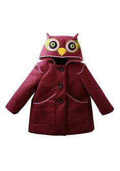 Sweetheart Owl Girls Coat: cute coat