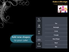 Adding new shapes is a 'piece-of-cake' in Cake-i-Design!