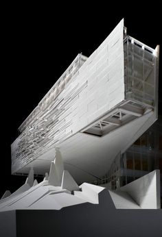 Image 57 of 60 from gallery of Bill & Melinda Gates Hall / Morphosis Architects. Photograph by Morphosis Architects Morphosis Architecture, Architecture Drawings, Futuristic Architecture, Concept Architecture, Amazing Architecture, Contemporary Architecture, Interior Architecture, Chinese Architecture, Interior Design