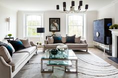 British Reserve by Daniel Hopwood – drawing room overlooking Kensington Square. Interior designer Kensington
