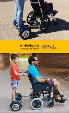 Motor acompañante silla de ruedas manual de AidWheels